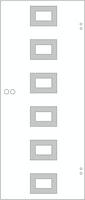 SPRINZ Ganzglasschiebetür Lagos Sondermaß max 1000x2200mm Weißglas