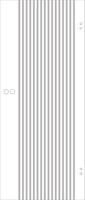 SPRINZ Ganzglasschiebetür Landau Sondermaß max 1000x2200mm Weißglas