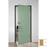 SPRINZ Ganzglasschiebetüre Siebdruck Motiv ALICANTE in transluzent grün