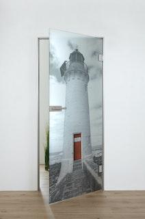 SPRINZ Digitaldruck- Ganzglasdrehtürer Motiv WINCHESTER