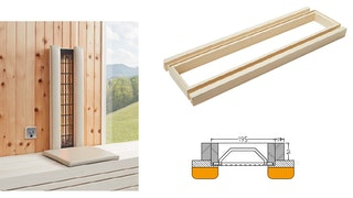 Infraworld Holzrahmen für VITALlight-IPX4 Infrarotstrahler,Wandmontage