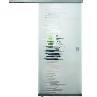 Design-Ganzglasschiebetüre LILLY Satinato Komplettset- ESG 8 mm