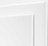Holzzarge PIANA CPL weiß glatt mit Rundkante und 60 mm Bekleidungsbreite