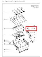 Karibu Temperaturfühler / Feuchtefühler für 9 kW Bio Kombiofen mit Steuergerät Easy