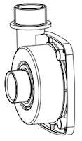 Pumpengehäuse G 2˝ - Ø 45 (104/003508)