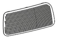 Siebeinsatz links  (104/003723)