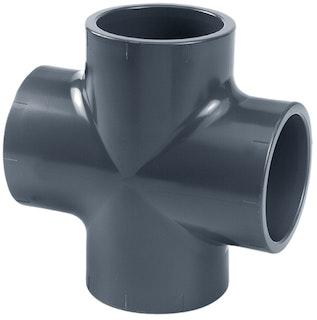 PVC-Kreuzstück 90° Ø 75 mm K - K