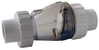PVC-Rückschlagventil mit Kupplung Ø 50 mm K-K - ohne Feder