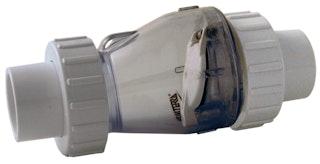 PVC-Rückschlagventil mit Kupplung  Ø 63 mm K-K - ohne Feder
