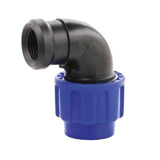 "PP-Klemmfitting Winkel 90° 50 mm - 1 1/2"" IG"