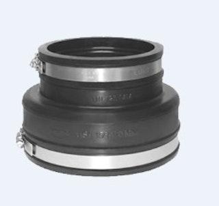 EPDM Reduziermuffe Ø 110 - 63 mm inkl. V2A Schlauchschelle