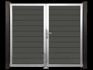 GroJa Lumino Tor Universal 2-flügelig mit Alurahmen