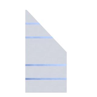 TraumGarten System Glas ALPHA 90x180/90 cm Anschluss rechts