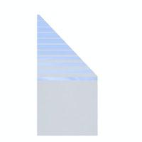 TraumGarten System Glas BETA 90x180/90 cm Anschluss rechts