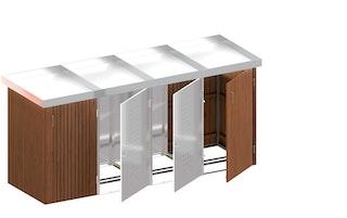 TraumGarten BINTO Hartholz/ Edelstahl 4-er Box mit Pflanzschale Komplettset