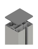 Muster anfordern: TraumGarten SYSTEM Klemmpfosten Silber