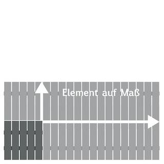 TraumGarten Alu-Vorgartenzaun Squadra auf Maß