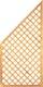 T&J DIAGONAL Rankzaun Ecke 6 x 6 cm 90 x 180/90 cm
