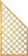 T&J DIAGONAL Rankzaun Ecke 10 x 10 cm 90 x 180/90 cm