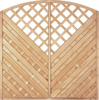 T&J MAXI DIAGONAL RANK Lamellenzaun Diagonal Bogen Rank 180 x 180/160 cm