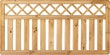 T&J KAMPEN Gartenzaun Senkrecht Ranki 180 x 90 cm