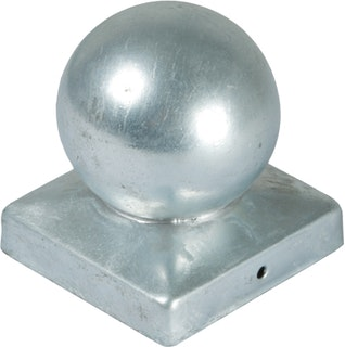 T&J Pfostenabdeckung aus Metall 9 x 9 cm Kugel
