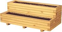 T&J VITJA Blumenkübel B 100 x T 50 x H 40 cm, 2 Stufen inkl. Folieneinsatz