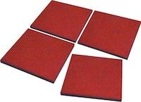 T&J Fallschutzplatten 50 x 50 x 2,5 cm rotbraun