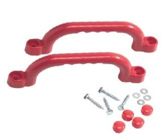 T&J Handgriffe aus Kunststoff, rot, 2 Stück