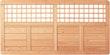 T&J GARDA Sichtschutz mit Rankgitter Douglasie 1800 x 900 mm