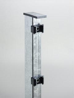 T&J TOM Doppelstabmatten-Pfosten mit Klemmhalter