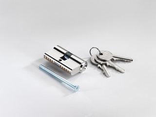 T&J Profilzylinder 27/27 mm, inkl. 3 Schlüsseln