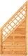 T&J SUNLINE Lammellenzaun Ranki ECKE 90 x 180/90 cm