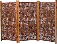 T&J SOFIA Weiden-Paravent 3-teilig 180 x 120 cm
