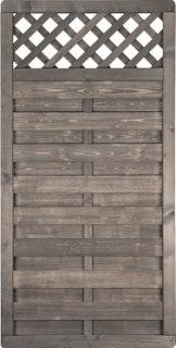 T&J BARTEK Lamellenzaun grau lasiert 90 x 180 cm