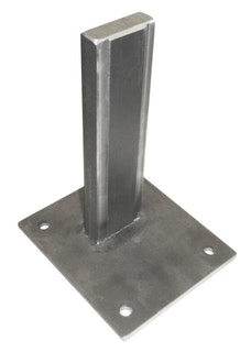 T&J Pfostenträger für Stecksystem Aluminium Pfosten