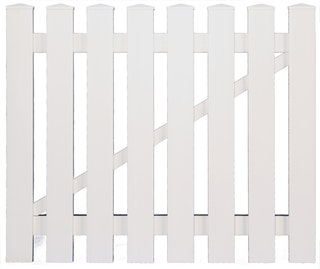 T&J LIGHTLINE Kunststoff Einzeltor weiß