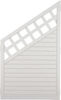 T&J LIGHTLINE Kunststoff Zaun Ranki Ecke 900 x 1500/900 mm, weiß