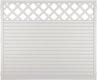 T&J LIGHTLINE Kunststoff Zaun Ranki 1800 x 1500 mm, weiß