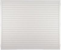 T&J LIGHTLINE Kunststoff Zaunelement 1800 x 1500 mm, weiß