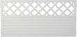T&J LIGHTLINE Kunststoff Zaun Ranki 1800 x 900mm, weiß