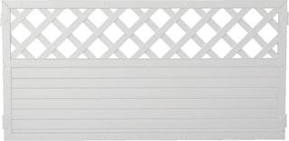 T&J LIGHTLINE Kunststoff Zaun Ranki 180x90 weiß