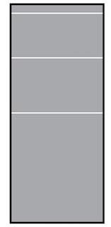 T&J VETRO SATINATO Glas-Sichtschutz Typ Rechteck 120
