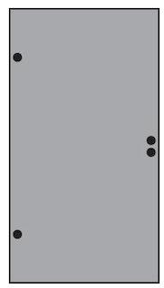 T&J VETRO Glas-Sichtschutz Uni Tür