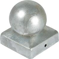 T&J Pfostenabdeckung Metall Kugelform 7x7