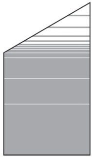 T&J VETRO SATINATO Glas-Sichtschutz Typ Schräg 120/180