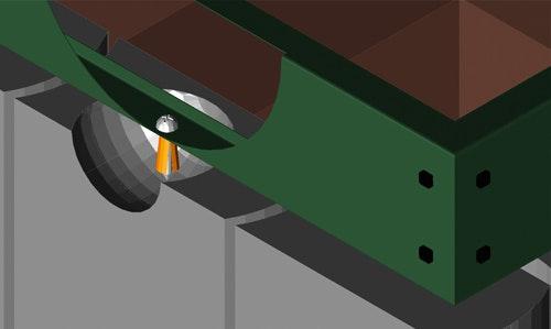 Verdübelung des Stahlblechfundaments