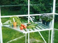 Vitavia Abklappbarer Tisch aus Aluminium für Gewächshaus Juno/Hera