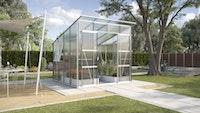 Vitavia Gewächshaus Freya 7600 inkl. 2 Seitenfenster - 7,6 m²