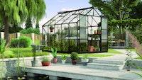 Vitavia Gewächshaus Uranus 8300 inkl. 4 Dachfenstern - 8,3 m² Set inkl. LED Leiste